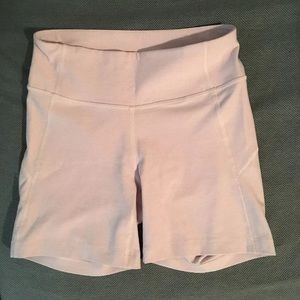 Outdoor Voices lavender warmup shorts